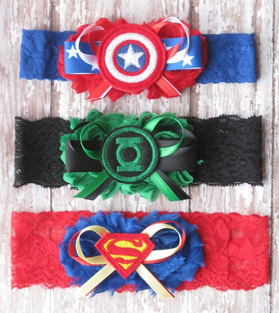 Geek Wedding Ideas: Bridal Party Superhero Garter Set...Wedding Photo By