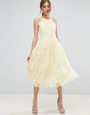 Lace Pinny Scallop Edge Prom Midi Dress | Pinterest | Ballkleid ...