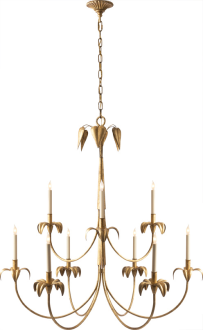 New Product Darlana Large Chandelier By Visual Comfort Co Shown In Gilded Iron Decoration Luminaire Canopee