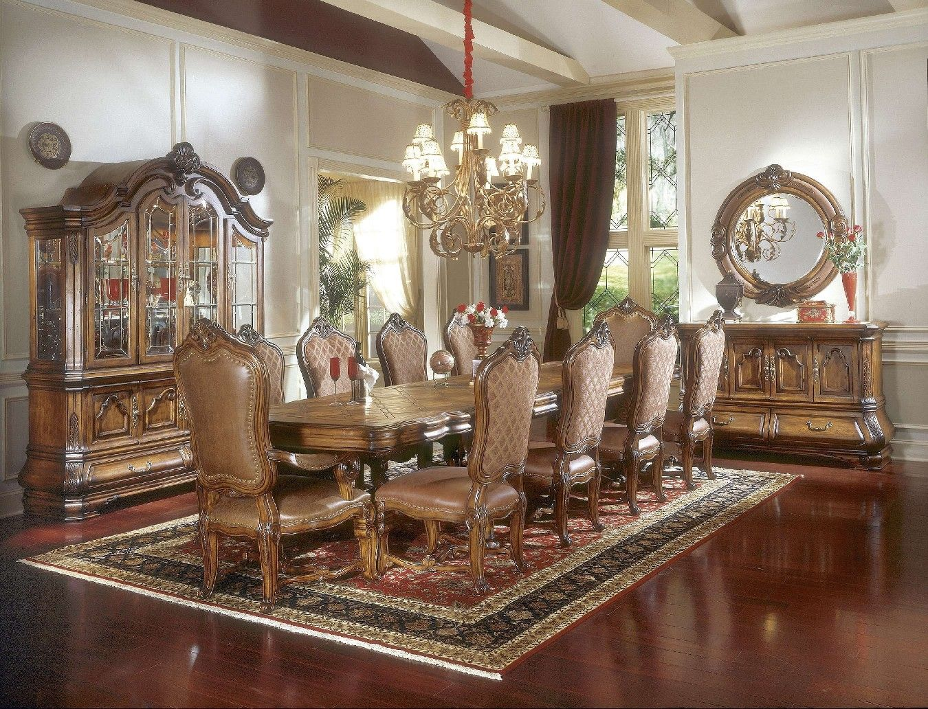 "michael amini dining room furniture | ~ Michael Amini Tuscano 148"" Long Formal Dining Table ..."