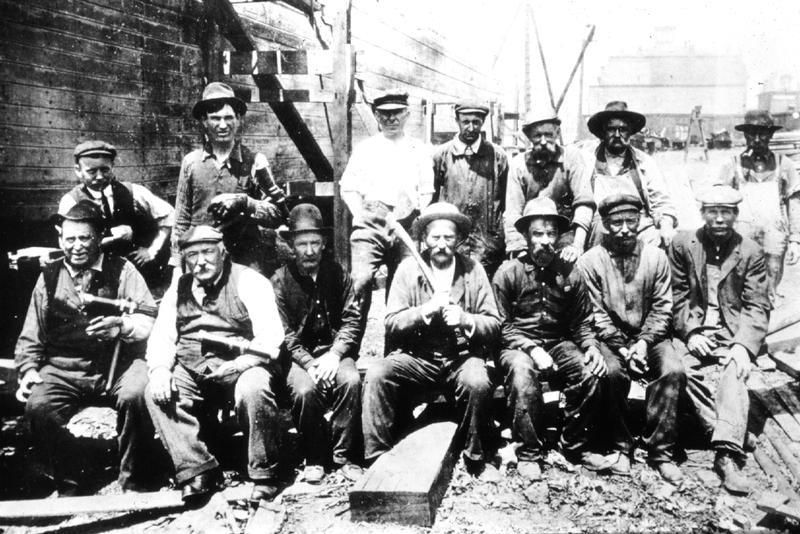 The Erie Canal workers (construction workers) www