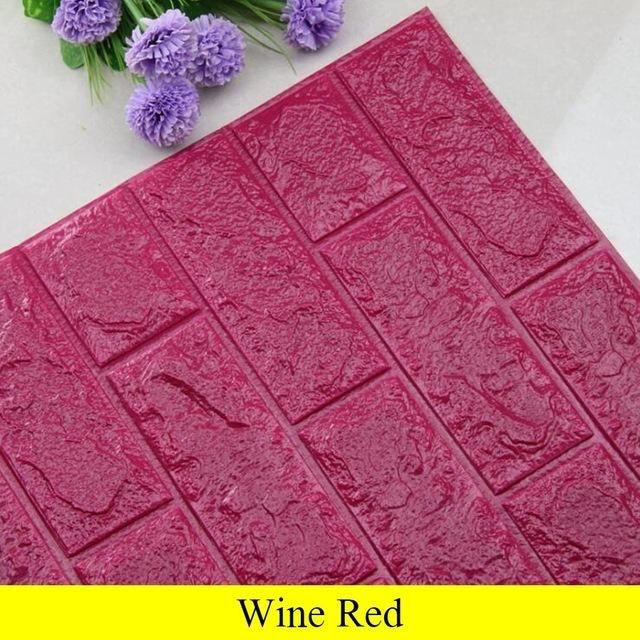 Photo of 3D Brick Wall Luxury Design – Wine red / 70cm x 31cm