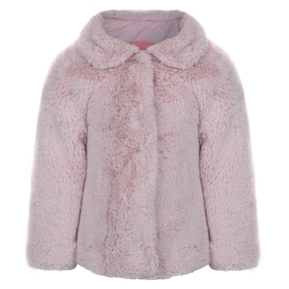 7aed04721ead Monnalisa Baby Girls Pink Faux Fur Coat
