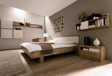 Chambre couleur lin taupe et blanc Bedrooms and Interiors
