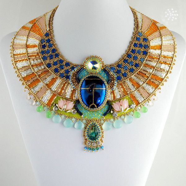 Aether egyptian scarab necklace bead embroidered statement aether egyptian scarab necklace bead embroidered statement necklace egyptian collar necklace 1500 aloadofball Choice Image