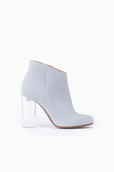 Maison Martin Margiela Glitter Heel Low Boot (Pale Grey)