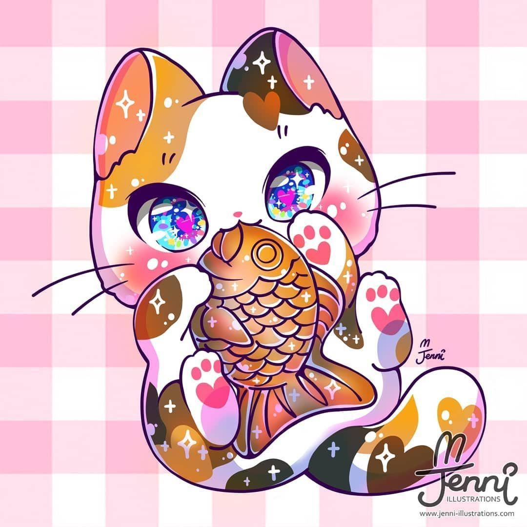 Pin By Uma Fa Do Orochinho On Thehanyuusimblr Cute Kawaii Animals Cute Animal Drawings Kawaii Kawaii Cat Drawing