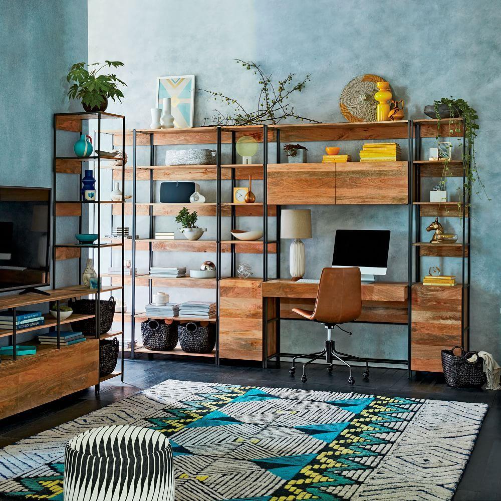 Industrial Modular 33 Bookshelf Home Home Decor Home Office Design
