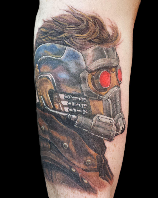 Freddy Payne, guardians of the galaxy tattoo, star lord tattoo, tattoo by freddy payne
