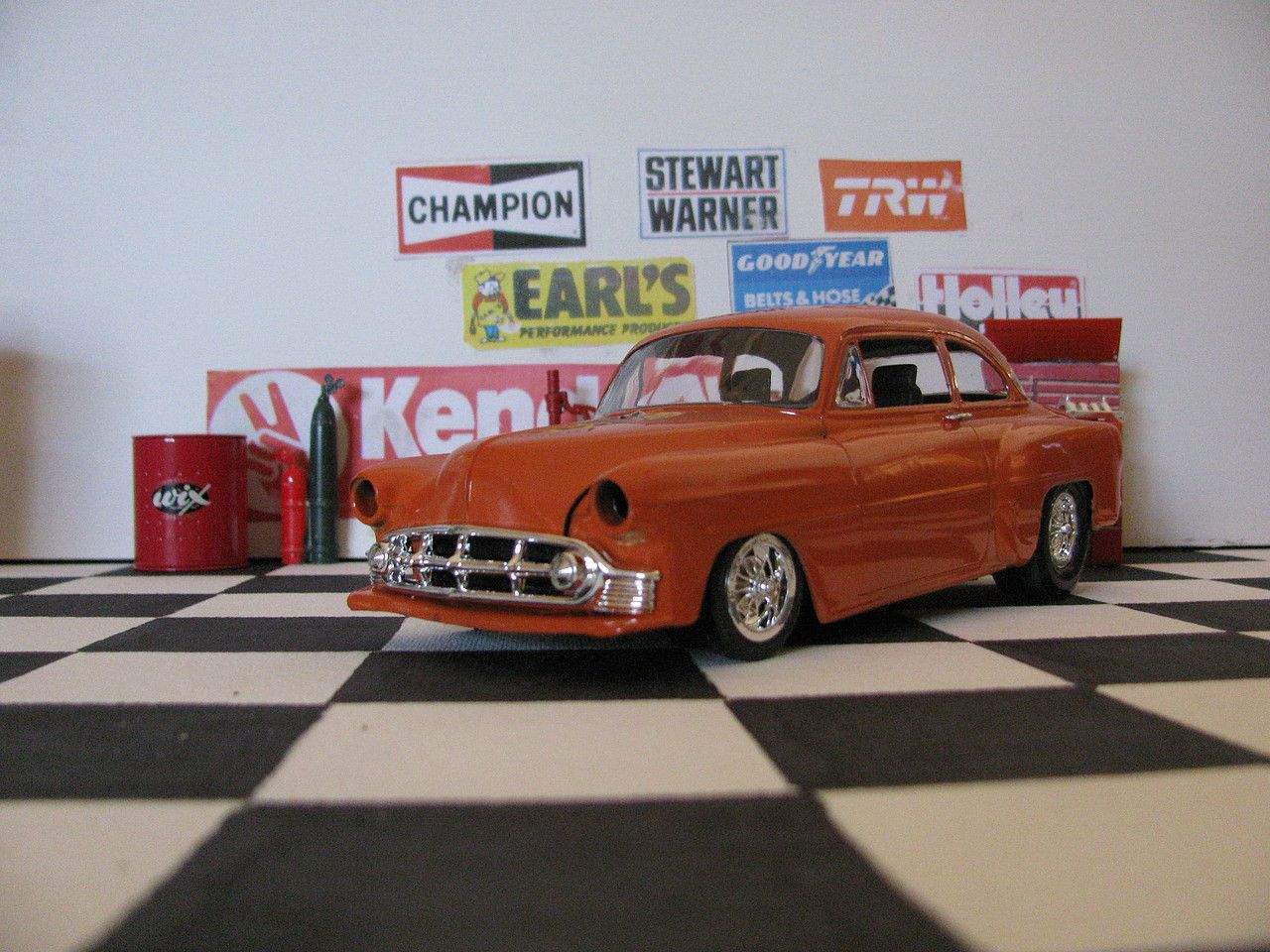 1953 54 Chevy Gasser Bad Nooze Drag Car Plastic Model Car Kit In 1