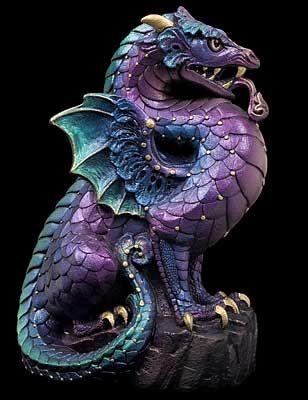 Guardian Dragon Gargoyle - Peacock | Guardiankind | Dragon