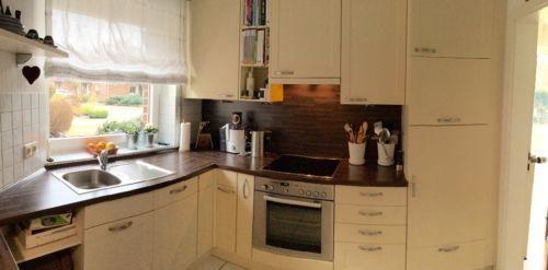 Einbauküche von Nobilia in L-Form inkl Kühlschrank - dunstabzugshaube kleine küche
