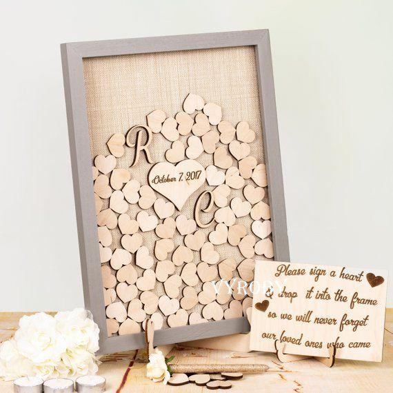 Alternative Wedding Guest Book Ideas: Wedding Guestbook Alternative Shadow Box Guest Book Wooden