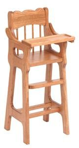 amish wooden toy doll highchair kayla dolls doll furniture rh pinterest com Amish Wood Chairs Discount Amish Wooden High Chairs