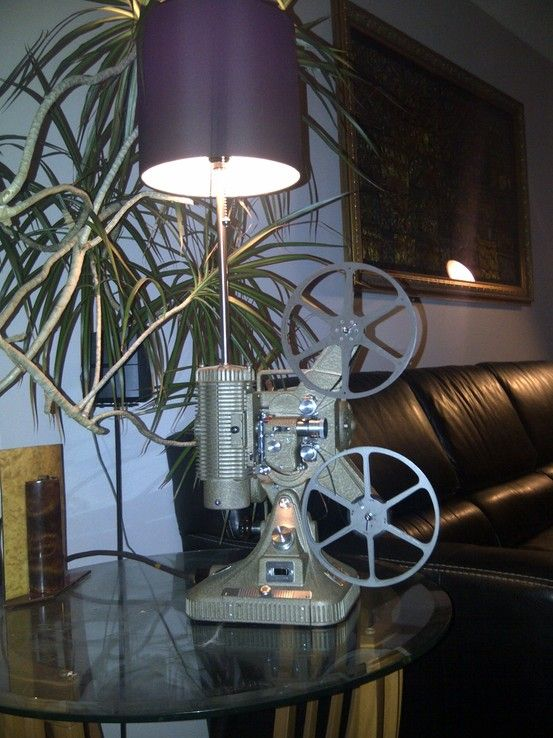 Keystone 8mm Projector Converted Into A Table Lamp