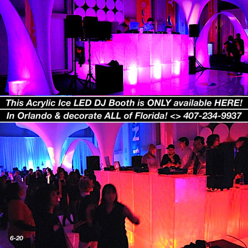Beautiful color changing full size led uplighting light up
