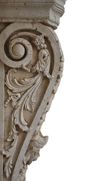 very fine corbel leg of a fireplace