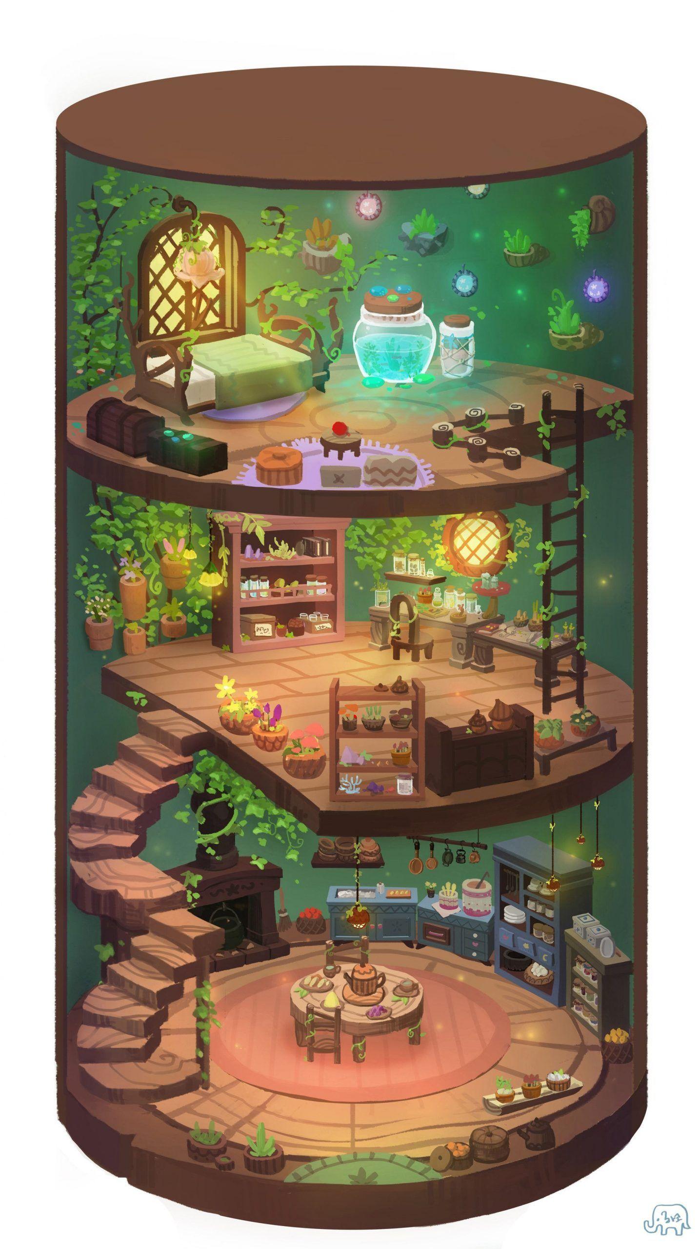 Pin By Jonas On Haus Grundriss In 2020 Environment Concept Art Cartoon House Home Art