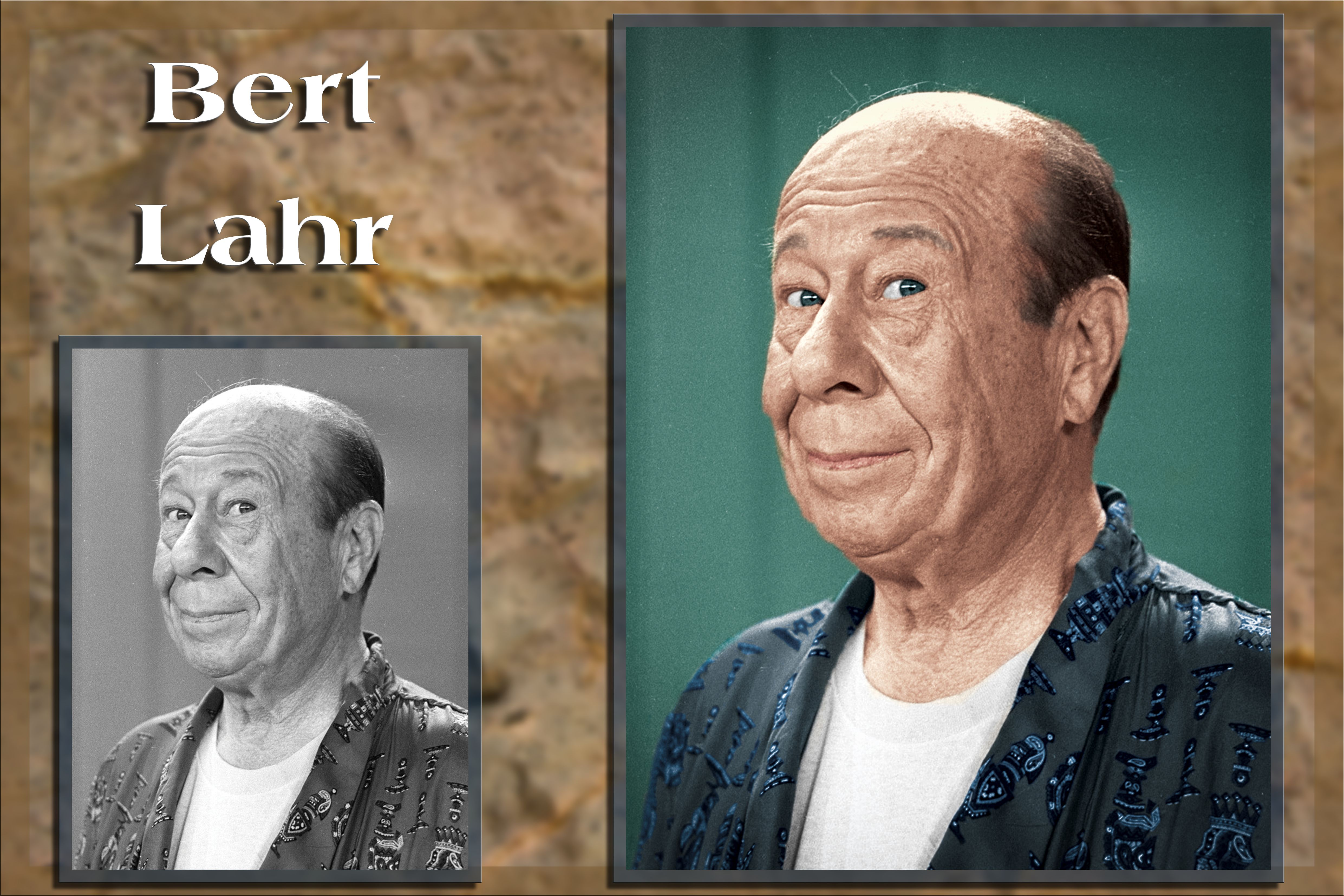 Bert Lahr (born Irving Lahrheim; August 13, 1895 – December 4, 1967) Lahr is remembered largely for his role as Kansas farmworker Zeke and the Cowardly Lion in The Wizard of Oz (1939).