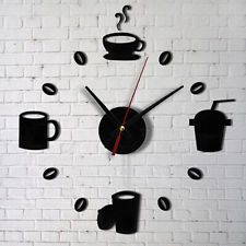 Details about Fashion Acrylic DIY Self Adhesive Interior Wall Creative Home Decoration Clock