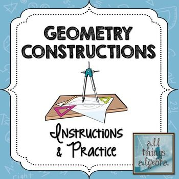 Geometry Constructions Instructions With Practice With Images