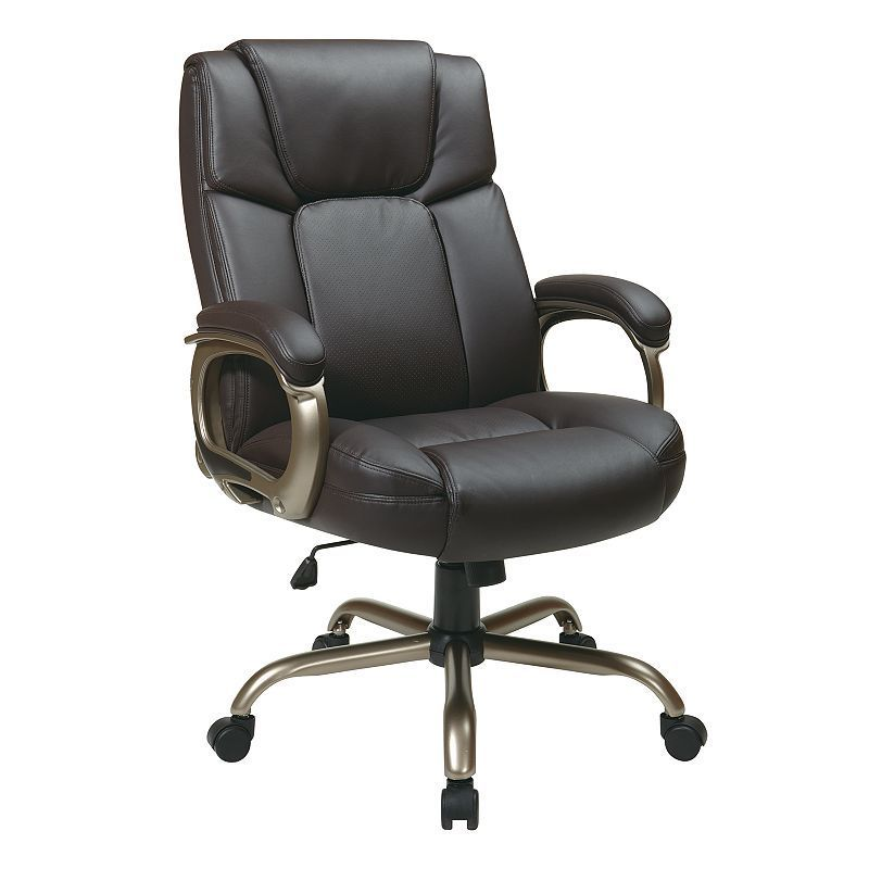 Office Star Products Espresso Eco Leather Big Man S Executive