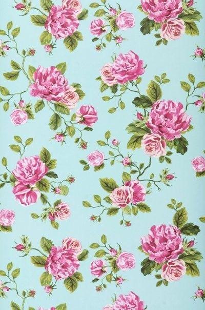 Floral Wall Paper vintage flowers - google otsing | paper | pinterest | google