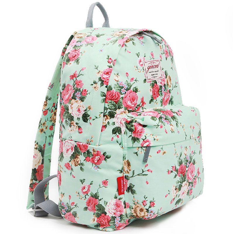 Flower Backpacks for Women Girls School Bag GENOVA 2452 | Abby ...