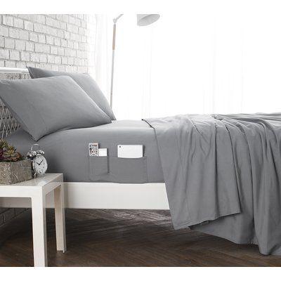 Ebern Designs Marnell Bedside Pocket Sheet Set Wayfair In 2020 Dorm Room Bedding Twin Xl Bedding Dorm Bedding Sets
