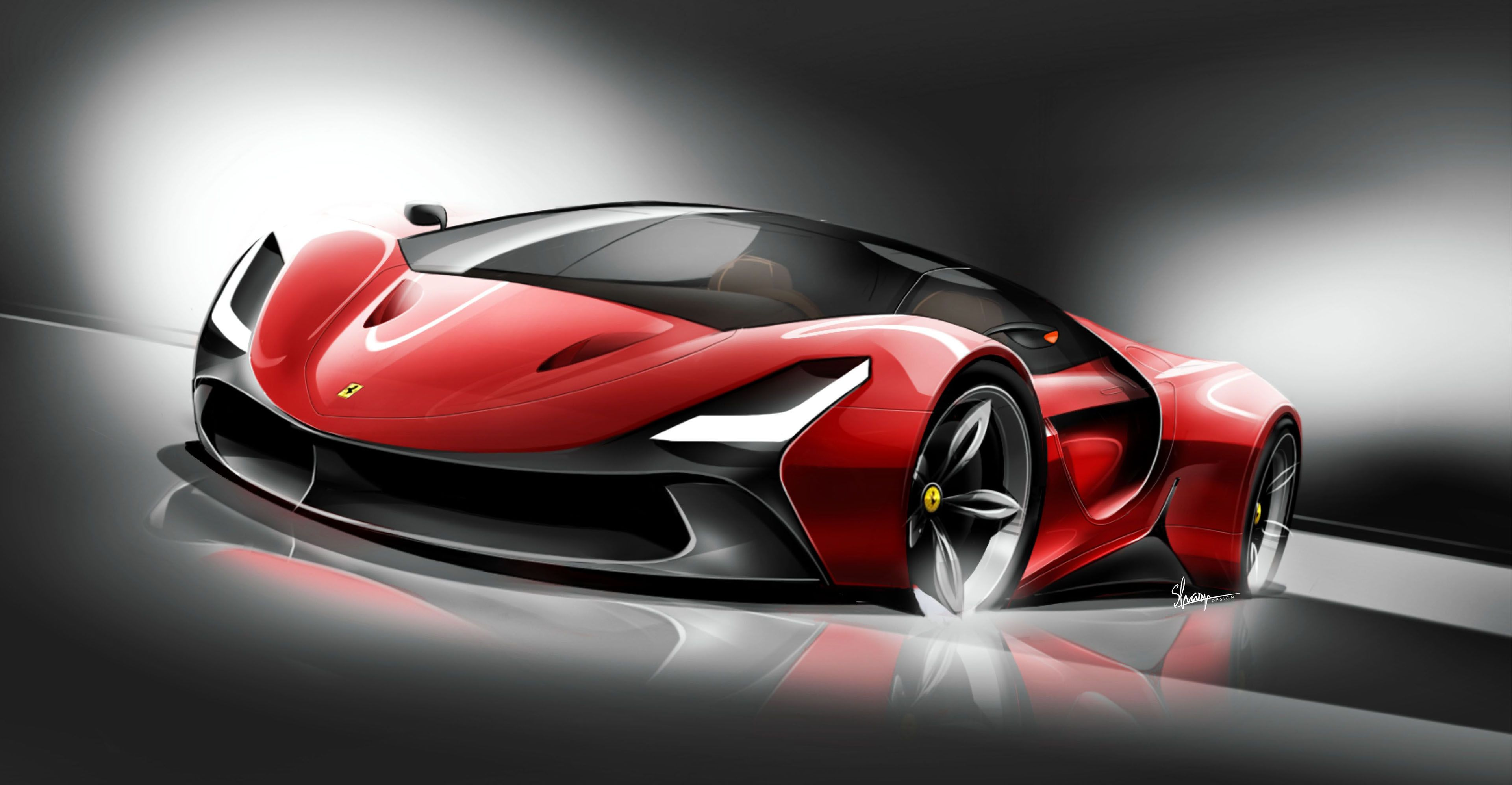 The Taska Personal Project To Design A New Super Car According A Specific Brand The Outcomeferrari Was Chosen As The Brand Futuristic Cars Ferrari Super Cars