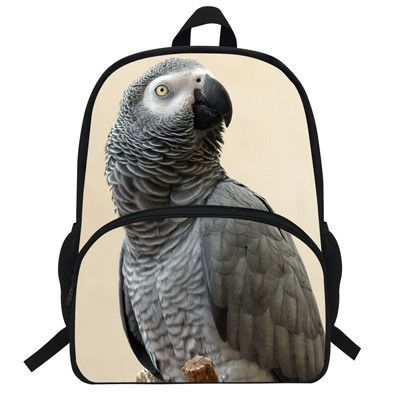 cec3d4ac0b13 16inch Girls Zoo Animals Backpack For Women School Bags Print Parrot  Backpack Macaw Teenagers Boys Casual Bookbag for Children