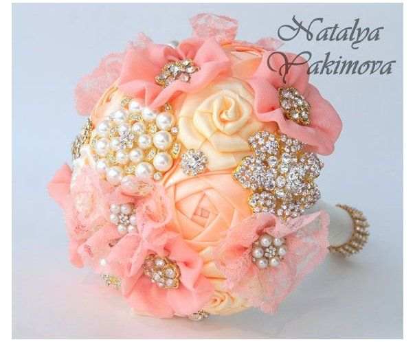 brooch bouquet wedding color schemes