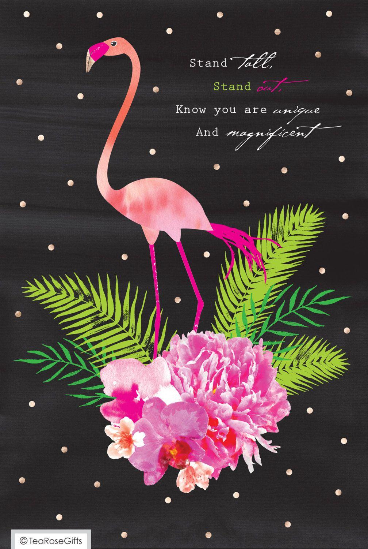 Сделать красивую, картинка с днем рождения фламинго