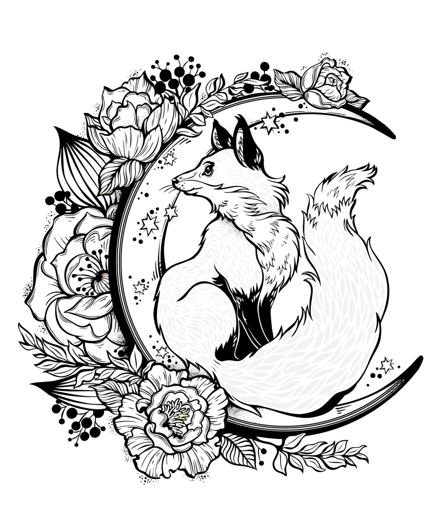 I love this Fox coloring pic! Just beautiful!  Fox coloring page