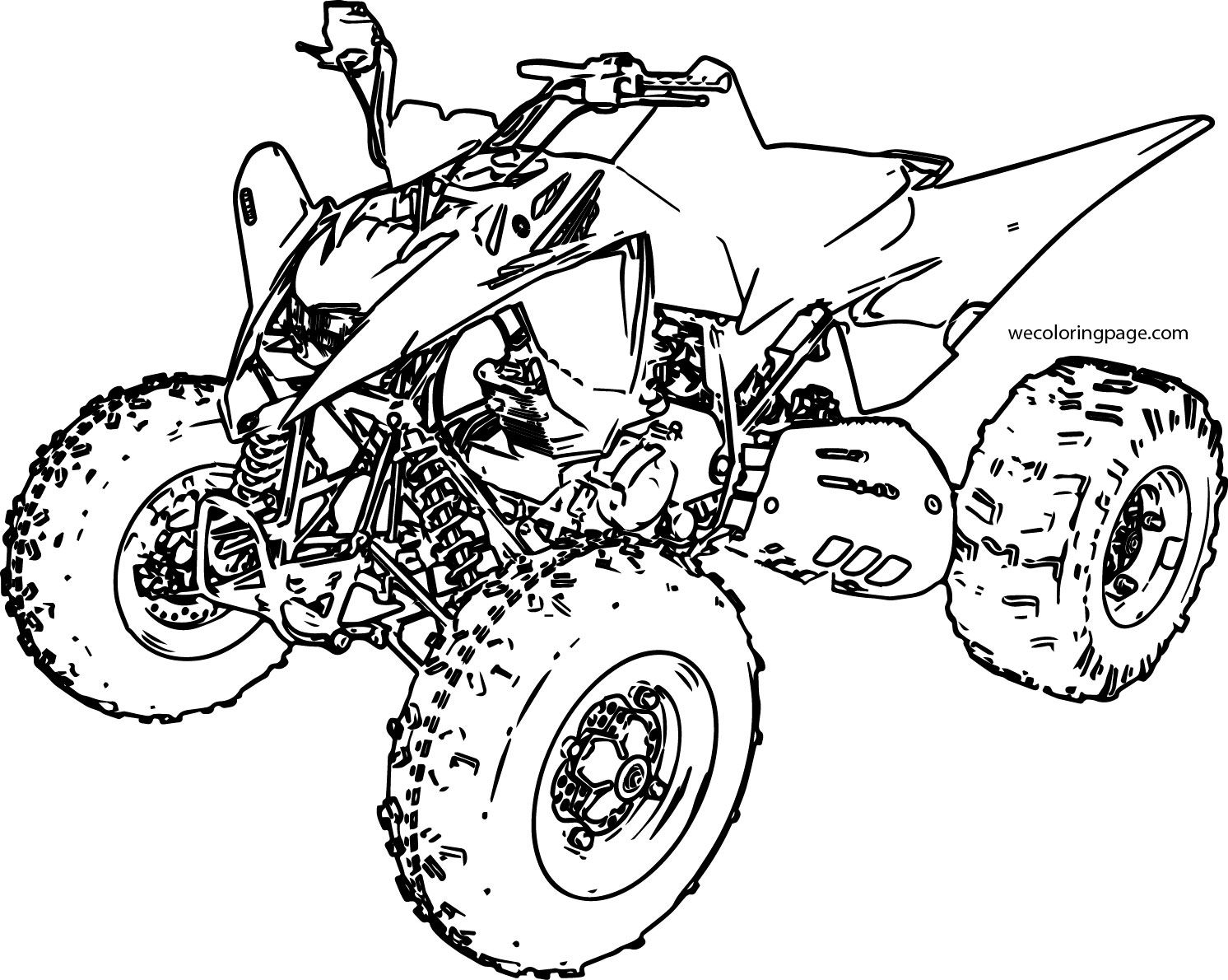Cool Sport Atv Yamaha Raptor Coloring Page Sports Coloring Pages Free Coloring Pages Monster Truck Coloring Pages