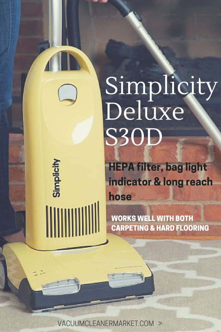 Simplicity Synchrony Deluxe S30d Vacuum Cleaner Lifetime Belt Vacuum Cleaner Vacuums Vacuum Suction