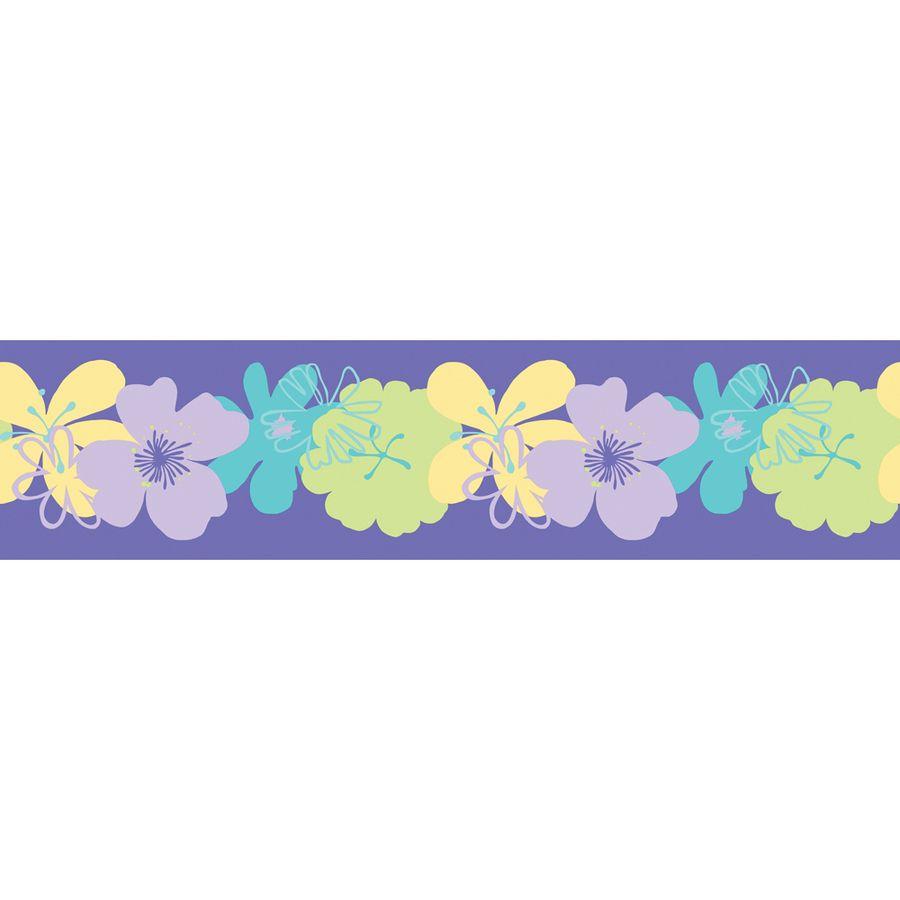 Allen Roth 5 In Purple Self Adhesive Wallpaper Border Lowes Com Poppy Wallpaper Self Adhesive Wallpaper Wallpaper Border