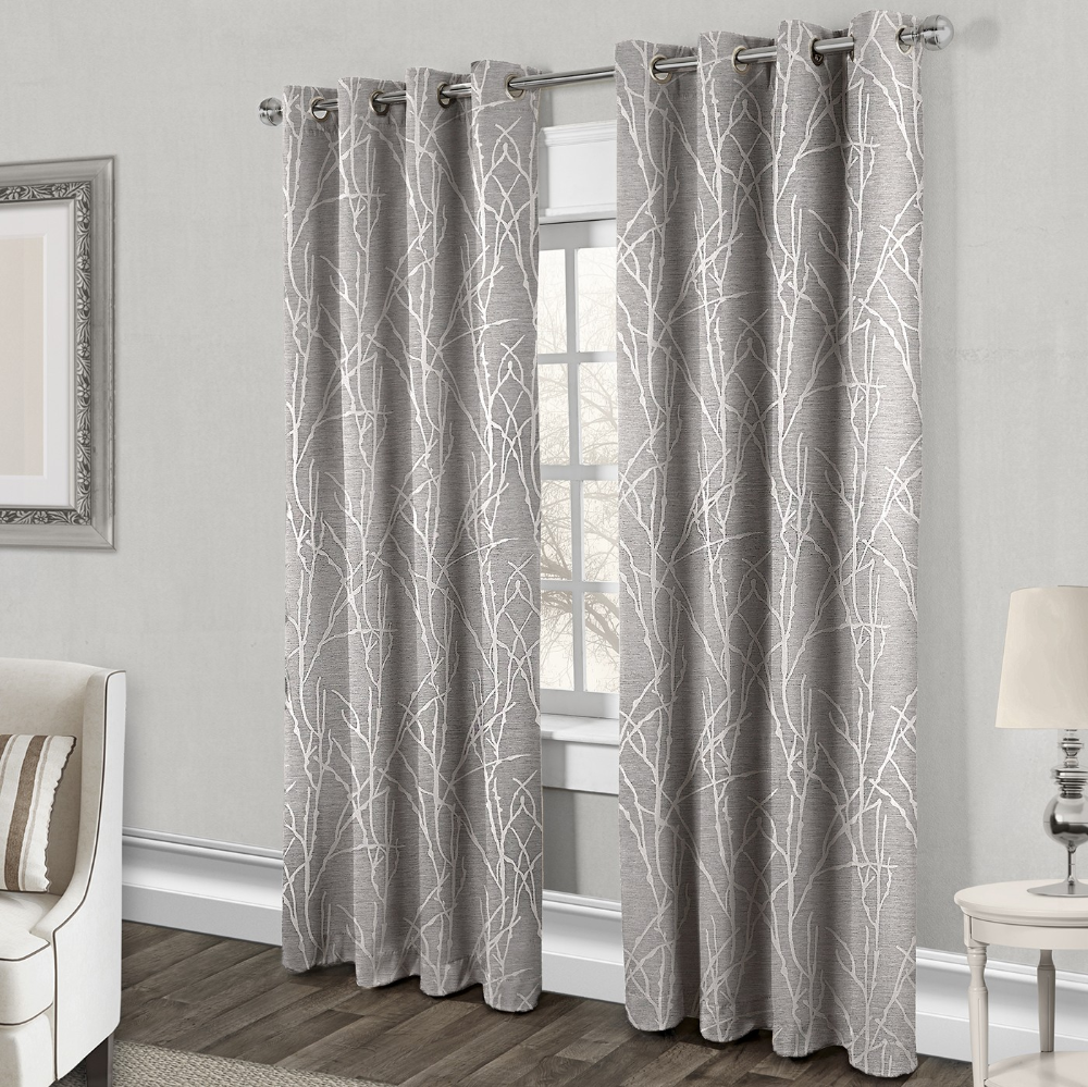 Finesse Curtain 1 Panel Dove Grey In 2020 With Images