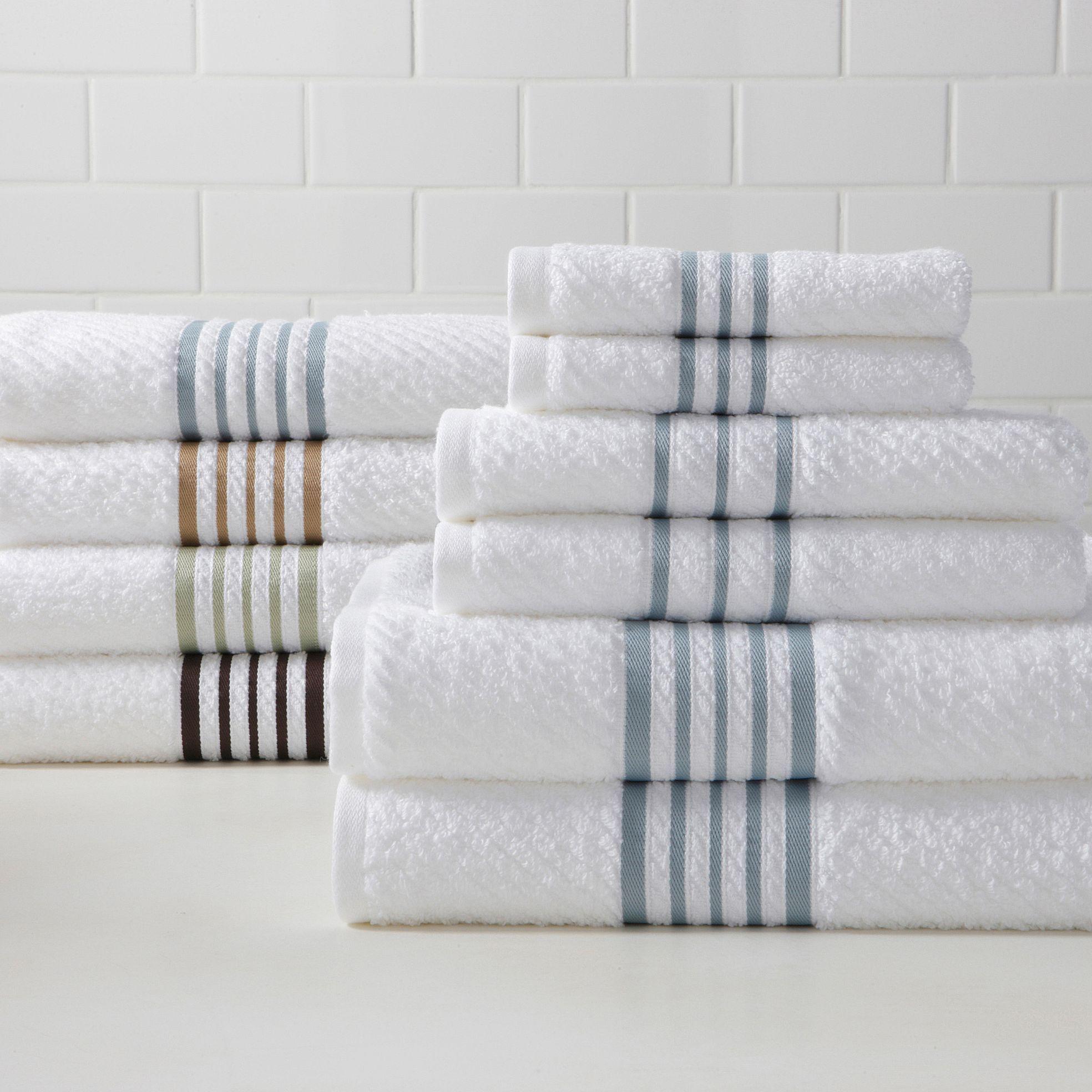 Linden Street Stripe Quick Dri 6 Pc Towel Set Jcpenney Striped