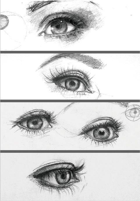 Portraitzeichnungen, Bleistiftzeichnungen, Skizzen ...