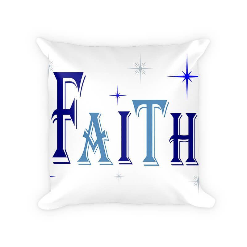 Faith I Woven Cotton Throw Pillow
