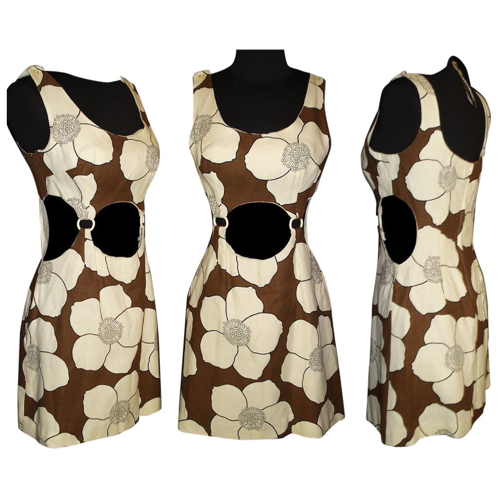 Vintage 1950s Dress  .  Couture  .  50 Dress  .  Bare Midriff  .   Bare Sides