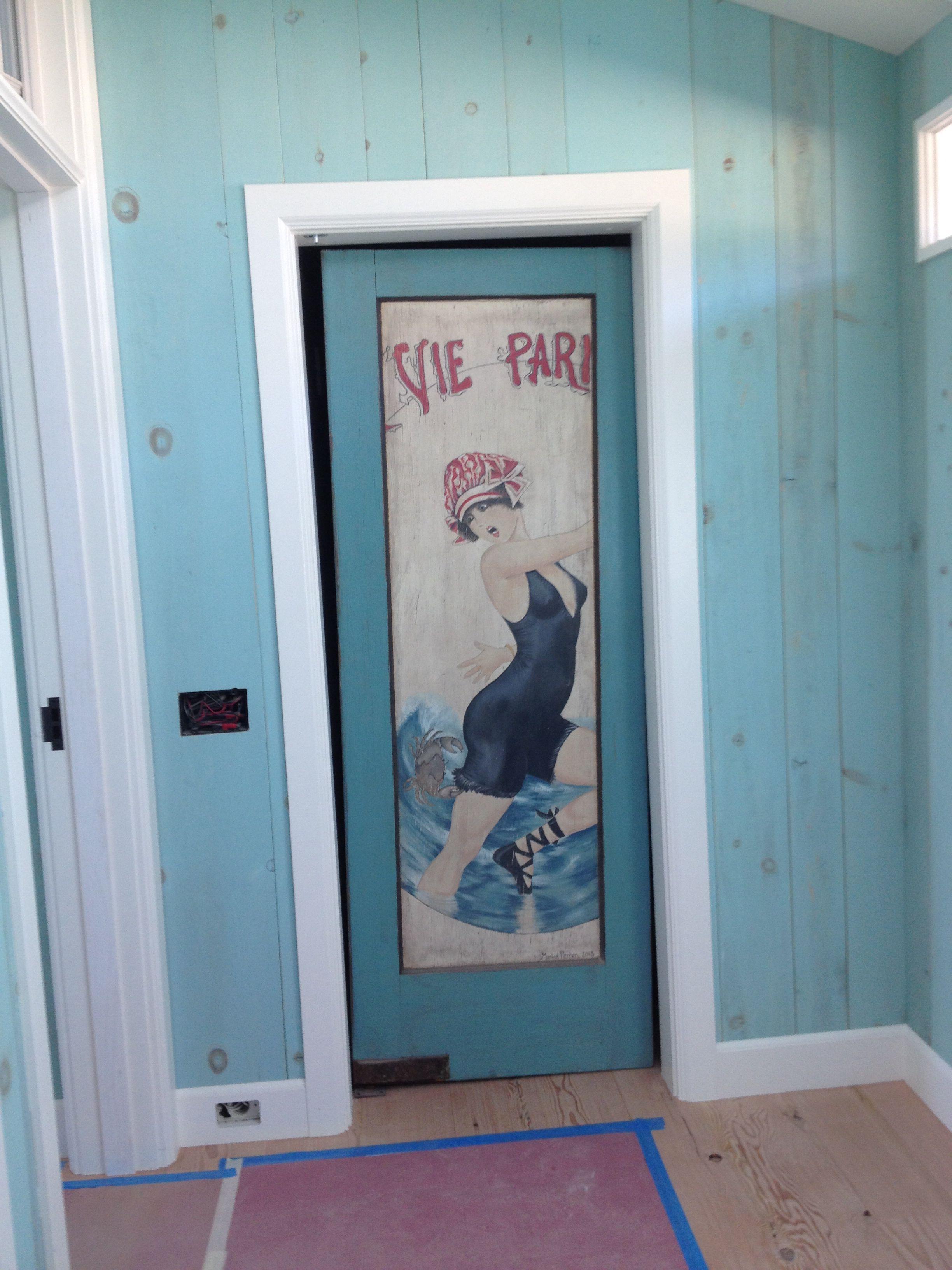Door painted by marina perren doorus new home in laguna beach