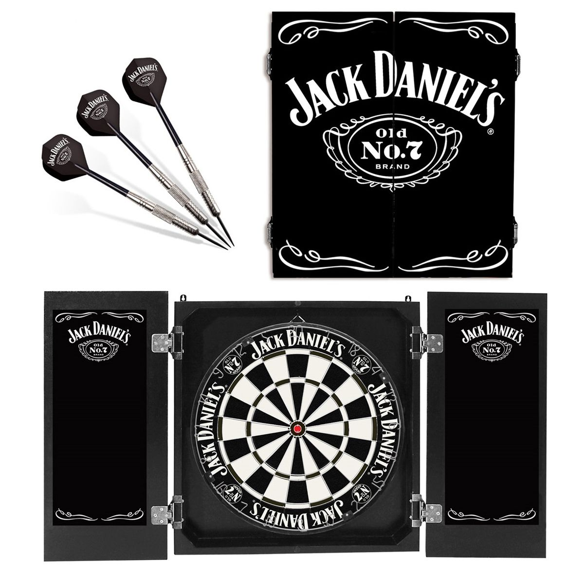 Genuine Jack Danielu0027s Dart Board And Cabinet. Old No. 7. Genuine Official  Licensed