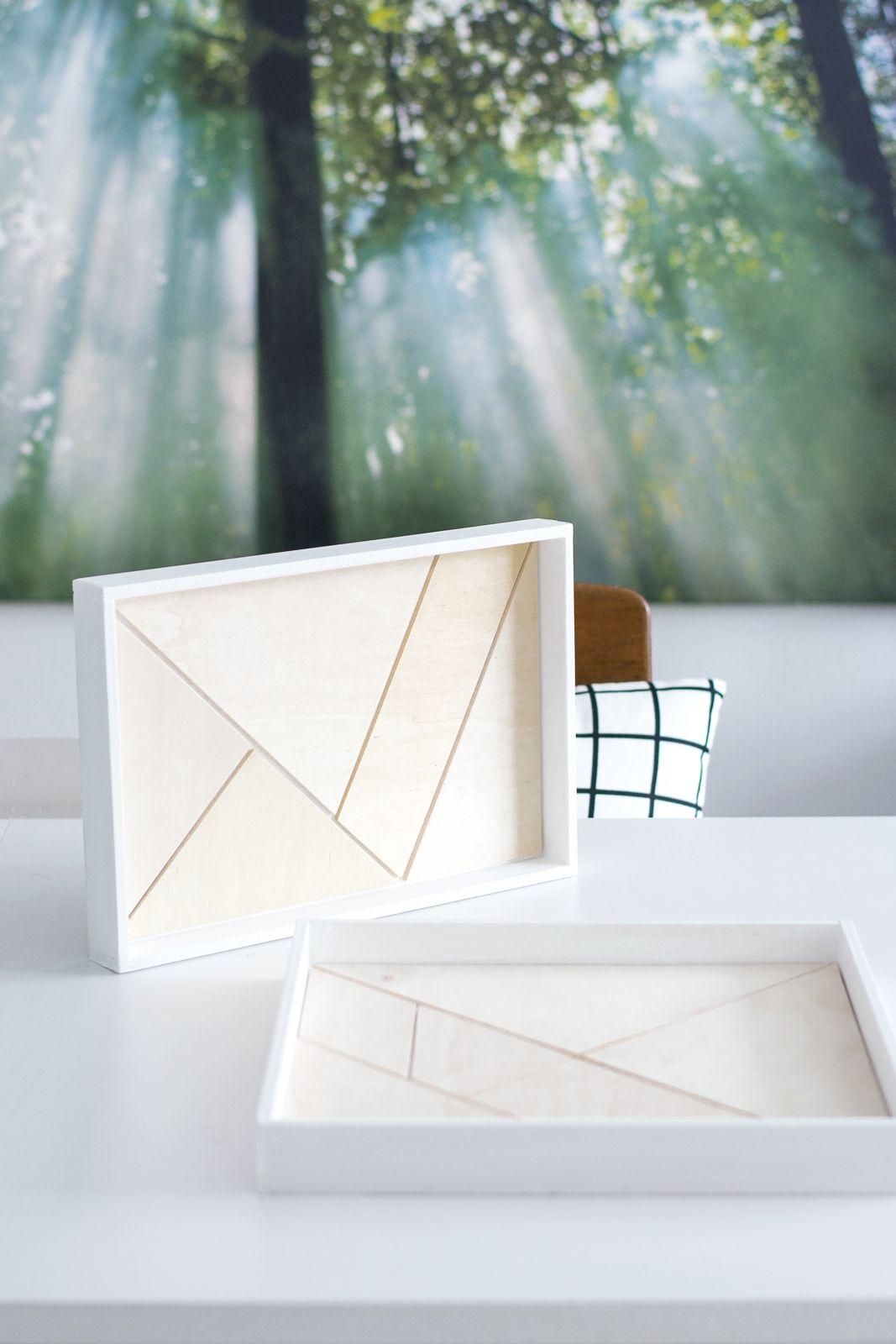 Nachmachtipp] Holz-Tablett mit Tangram Muster | Holz, Muster und Diy ...