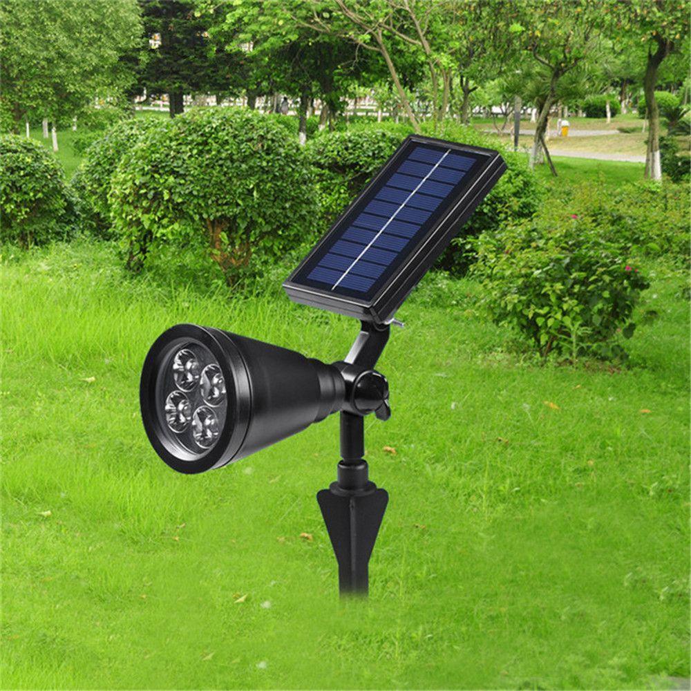 2015 Super Brighter Solar Power Dimming Led Spot Light Garden Lawn Nvironmental 4 Bulbs Pathway Night Lights Ip44 Solar Security Light Outdoor Led Lamps Solar