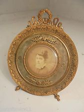 Antique French Gilt Metal Picture Frame      ref 804