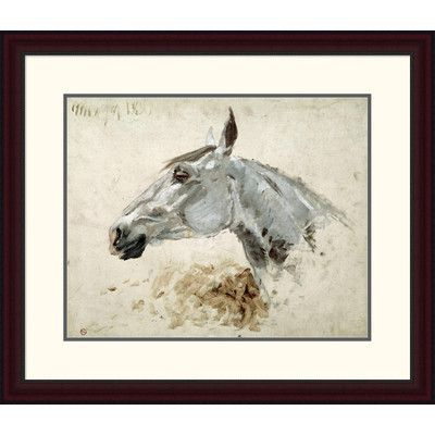 "Global Gallery 'Testo Di Cavallo' by Henri Toulouse-Lautrec Framed Painting Print Size: 25.62"" H x 30"" W x 1.5"" D"