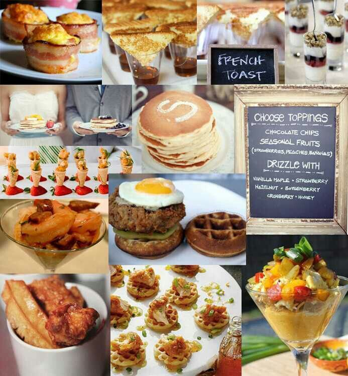 Perfect Food For A Southern Wedding At Brunch Time All Is Missing Is The Grits Wedding Food Wedding Brunch Reception Wedding Reception Food