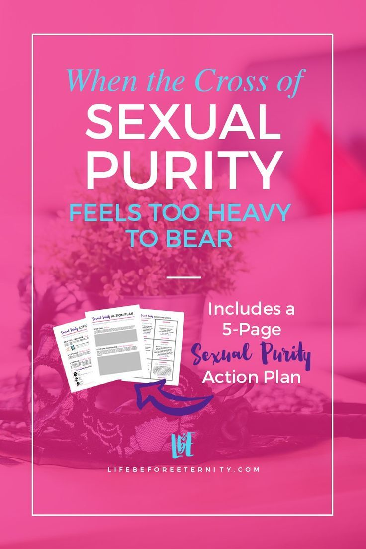 When the Cross of Sexual Purity Feels Too Heavy - Life Before Eternity Sexual purity was something I immediately struggled with when I was first becoming a Christian. The woman who desires to live for Christ can't ignore the role that sexual purity plays in her affections towards Him. Read more on the blog and download a 5-page Sexual Purity Action Plan (workbook)! Read it now, or pin it for later! ♥️